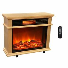 Great LifeSmart Large Deluxe Mantle Portable Electric Infrared Quartz Fireplace  Heater