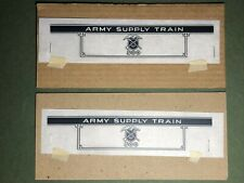 Marx Army Supply 500 Tender Side Decals | Reproduction | 2 Lot