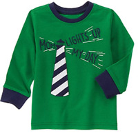 Gymboree Baby Boy Mom Lights Up My Day Lighthouse Long Sleeve Tee, 6/12 Mon, $18