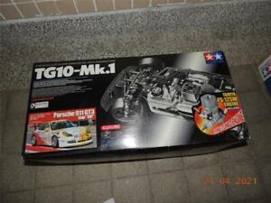 TAMIYA R/C 1/10 PORSCHE 911 GT3 TG10 MK1 KIT #44036 W/ENGINE  SPONGE DAMAGED