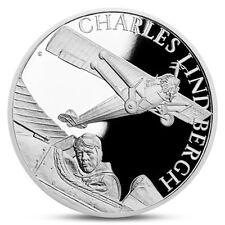 NIUE 1 DOLLAR CHARLES LINDBERGH AIRPLANE AVIATION SPACE SATELLITE SILVER 2017