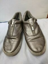 Womens Primark Shoes Trainer Size 6 Zip Silver Used