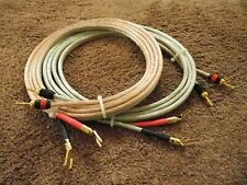 AUDIOPHILE 8 GAUGE OFC SPEAKER CABLE PAIR 742 STRAND PER CONDUCTOR SPADE-BANANA