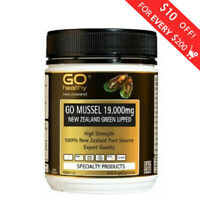 Go Healthy GO Mussel NZ Green Lipped Mussel 19,000 300 Capsules HIGH STRENGTH