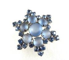 Vintage Blue Rhinestone Brooch Pin