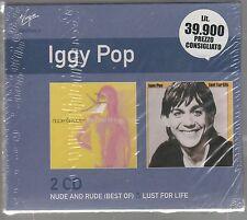 IGGY POP NUDE & RUDE THE BEST OT / LUST FOR LIFE BOX 2 CD F.C. SIGILLATO!!!