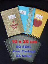 50 Clear Cellophane Bags - 10cm X 20cm - 40 micron - Non Seal - Non Adhesive