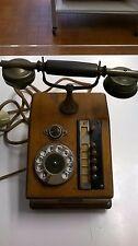 telefono antico in legno marca Migliavacca e Bisi