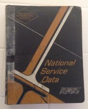 1965 National Service Data Book  National Automotive