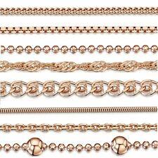 Amberta Collar en Fina Plata De Ley 925 y Chapado Oro Rosa 14k Cadena para Mujer
