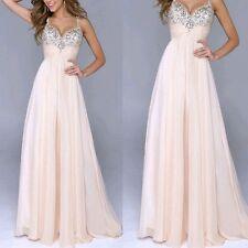 AU Women Chiffon Long Dress Evening Cocktail Gown Formal Bridesmaid Prom Dresses XL