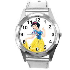 Princess Snow White Disney FILM MOVIE FAIRY TALE CD DVD TV SILVER LEATHER WATCH