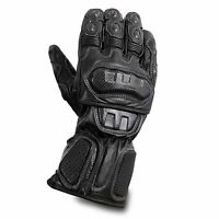 Waterproof Motorcycle Motobike Scooter Leather Sports Long Gloves Black Winter