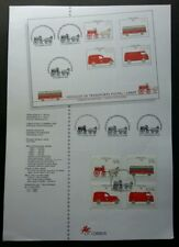 Portugal Postal Transportation 1994 Carriage Vehicle Train (stamp on info sheet)