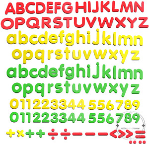 Magnetic Letters Magnets Alphabet and Numbers Toy ABC 123 Fridge Plastic Toy Set