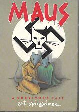 Maus by Art Spiegelman A Survivor's Tale, Autographed with a sketch, 1986 1st P