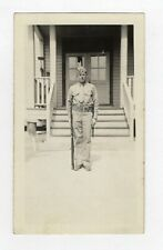 Vintage Photo Young Man U.S. Soldier Posing With Rifle 1940's Mar19