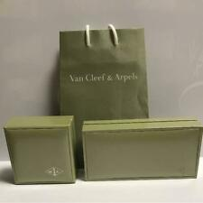 Van Cleef & Arpels Jewelry Box Green USED From Japan F/S