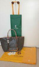 Authentic Brand New GOYARD Saint Louis GM LargeTote Black/Tan Bag FRANCE