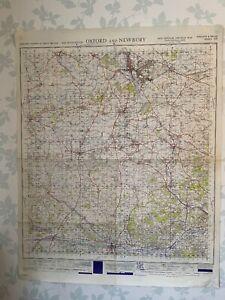 1948 Military System Map Oxford & Newbury War Office Edition Oxfordshire Newbury