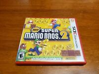 New Super Mario Bros. 2 (Nintendo 3DS, 2012) CIB Complete TESTED 3DS 2DS