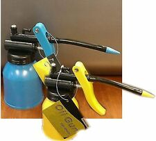Lot of 2 - Oil Gun Dispensers - 1 Blue & 1 Yellow