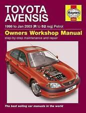 Haynes Car Workshop Repair Manual Toyota Avensis 98-Jan 03 R To 52