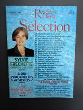 "Selection Reader's Digest Magazine Février 1995 "" Casinos,  Sylvie Fréchette"