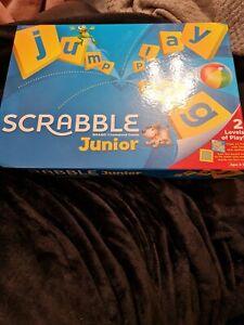 Scrabble Junior Board Game - Mattel Games 1 blue counter missing