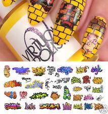 Graffiti Nail Art Waterslide Decals #5 - Salon Quality!