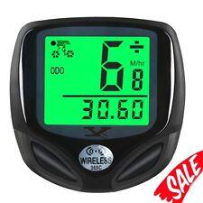 Bike Speedometer Waterproof Wireless Bicycle Training Distance Meter MPH LCD USB