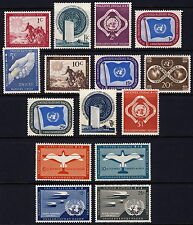 UN - New York . 1951 Year Set (1-11, C1-4) . Mint Never Hinged