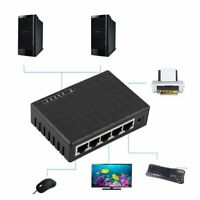 Desktop Lan Hub Network Switch Computer Ethernet Internet 5 Port 10/100 Mbps