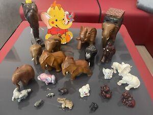 Set Holz Elefant 24 Elefanten Figur Skulptur Tierfigur Asien Afrika