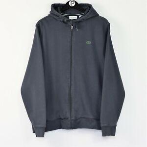 Lacoste Sport Men's XXL Blue Zip Up Hoodie Hooded Sweater