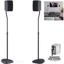 Speaker Stands Stand Black 2 Pcs Universal Adjustable Surround Sound Speakers