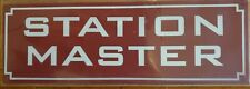 METAL RAILWAY SIGN - STATION MASTER  (RED)