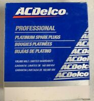 Set of 4 ACDELCO Double Platinum Spark Plug For General Motors