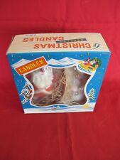 "Vintage Novelty 6"" Christmas Candle Santa & Snowman Original Boxed Set 1950's"