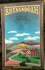 Shenandoah Broadway Musical window card John Cullum 1975
