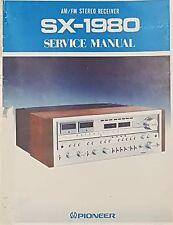 Pioneer SX-1980 Service Manual w/Schematics FREE US SHIPPING!