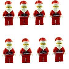 LEGO 8x Nicolás Papá Noel Minifigura Nuevo Santa Claus MINIFIGURAS Minifigura