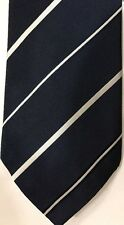 Vintage For Harrods By Michelsons Of London Navy Blue Silk Tie Excellent