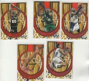 90's INSERTS LOT (5/15) 1997-98 FLEER ULTRA BIG SHOTS KEMP STOCKTON RODMAN DROB