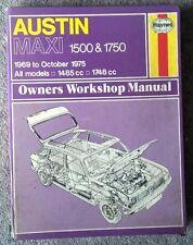 Austin Maxi 1500 & 1750 - Haynes Workshop Manual - 1969 to 1975