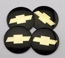 "NEW 4x 56mm 2.2"" black Emblem Badge Decal Sticker Wheel Center Hub Cap Chevrolet"