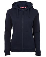 Jb's Wear Ladies Full Zip Front Fleecy Hoodie JBswear 3HJ1 Hooded Jacket