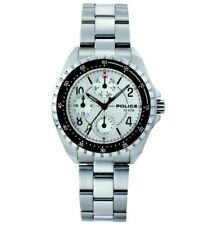 POLICE NAVY II Silver/White Ladies Chrono Watch with Date 11301MS/04M £175 (NEW)