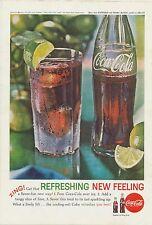 Vintage 1962 Coca-Cola Original Ad Classic Coke & Lime Antique Bottle Decor