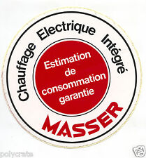 Autocollant Sticker Pub - Chauffage électrique intégré Masser an. 70 / 80